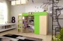 Piętrowe łóżko Comino 3B - Meble dziecięce