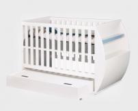 Szuflada pod łóżeczko z kołyską/tapczanik Hello Baby HBLS