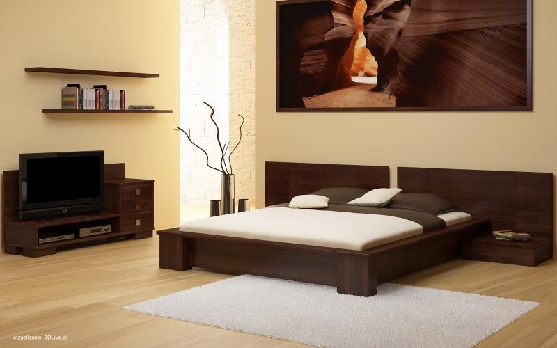 Meble Bukowe Do Sypialni Lorenzo łóżko Sypialniane I