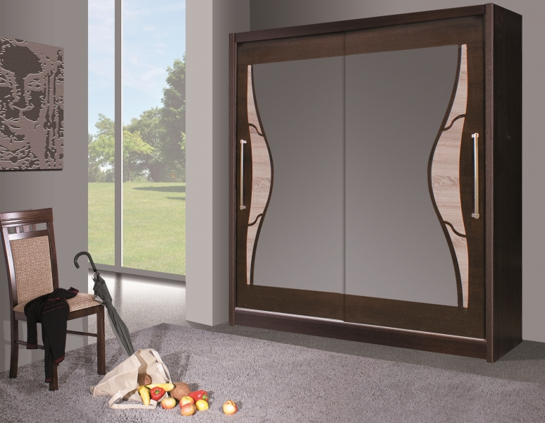 Nowoczesna garderoba do sypialni - szafa z lustrem DOME DO5-20  Internetowy Sklep Meblowy ...
