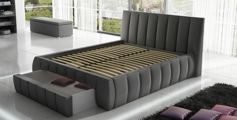 Tapicerowane łóżko Roma 140x200 Do Sypialni Internetowy