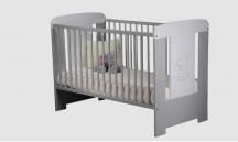 Łóżeczko dla niemowląt i dzieci - odcienie szarości - KITTY TL 2