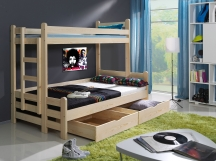 Piętrowe łóżko Beniamin II - łóżko dziecięce dla trzech osób.