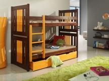 Piętrowe łóżko Kornel - podwójne łóżko dziecięce