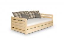 Rodos łóżko dwuosobowe do pokoju - meble sosnowe