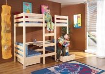 Piętrowe dwuosobowe łóżko Bartosz - meble dziecięce