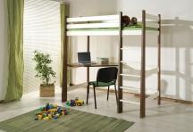 Sosnowe łóżko piętrowe Miłosz z biurkiem