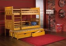 Sosnowe łóżko piętrowe trzyosobowe Maksymilian