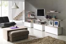 Stylowe białe meble do salonu, pokoju gościnnego - System Living NOWOŚĆ