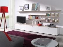 Białe eleganckie meble do salonu, pokoju gościnnego - System Living NOWOŚĆ