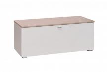 Szafka biała RTV z drzwiczkami do salonu, sypialni, pokoju - System Living L1