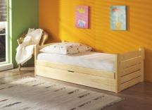 Łóżko sosnowe, dziecięce Ola - tapczan dziecięcy jednoosobowy 90x200