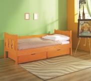 Łóżko dziecięce Verona - tapczan jednoosobowy sosnowy, różne kolory