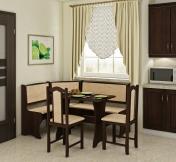 Narożnik do jadalni - Zestaw kuchenny z krzesłami A