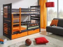 Piętrowe kolorowe łóżko Roland.
