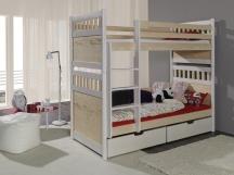 Piętrowe łóżko Salomon - podwójne łóżko piętrowe