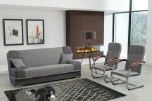 Zestaw do salonu, pokoju młodzieżowego, kanapa + fotel SARA