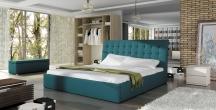 Tapicerowane łóżko do sypialni TERASSO 140X200