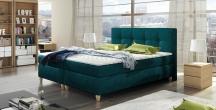 Tapicerowane łóżko kontynentalne Malta + TOP STANDARD 140X200