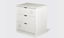 Komoda z szufladami, biała LENA LKS A 1
