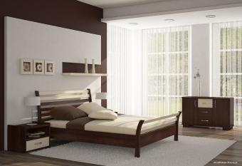Nowoczesne meble sypialniane - Zestaw mebli bukowych do sypialni Modena