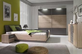 Nowoczesny zestaw mebli do sypialni - System Dione