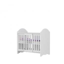 Białe łóżeczko niemowlęce CLASIC BABY LB-CL.