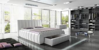 Tapicerowane łóżko ROMA 140X200 do sypialni
