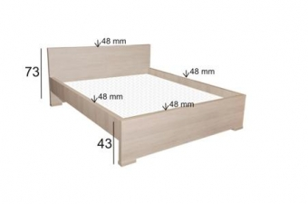 Łóżko do sypialni V-19 - Meble sypialniane