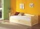 Łóżko sosnowe Olga jednoosobowe - tapczan dziecięcy jednoosobowy 80x181