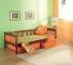 Łóżko sosnowe Zuzanna jednoosobowe - tapczan dziecięcy 80x181